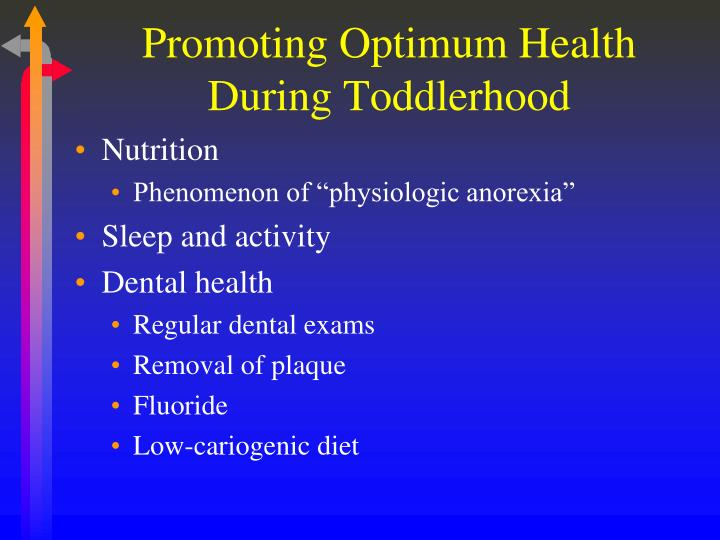 Promoting Optimum Health During Toddlerhood