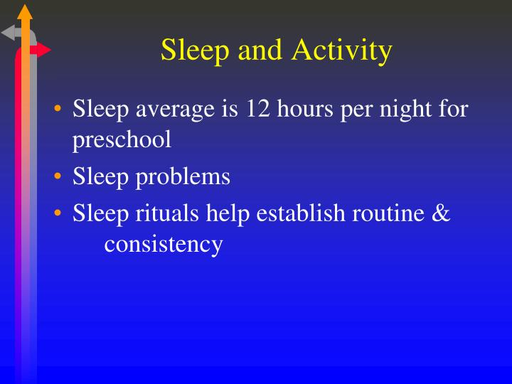 Sleep and Activity