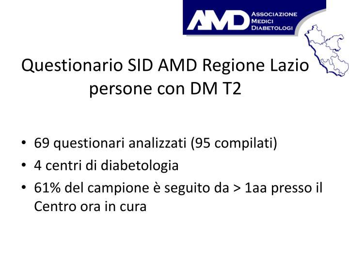 Questionario SID AMD Regione Lazio