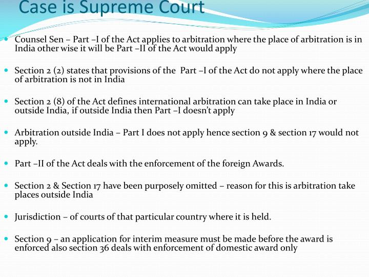 Case is Supreme Court