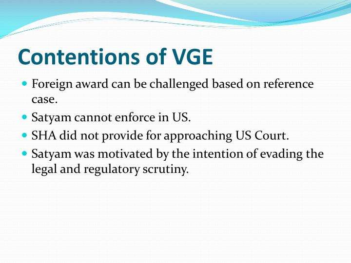 Contentions of VGE