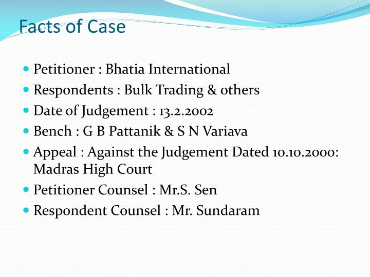Facts of Case