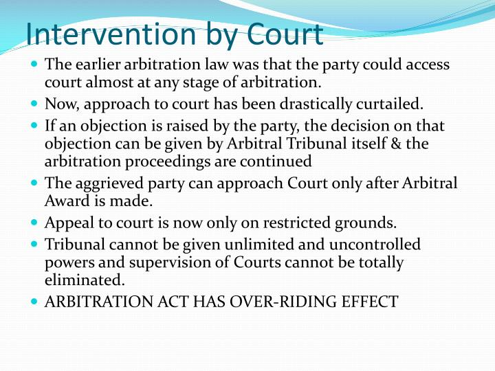 Intervention by Court