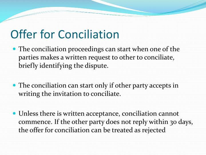 Offer for Conciliation