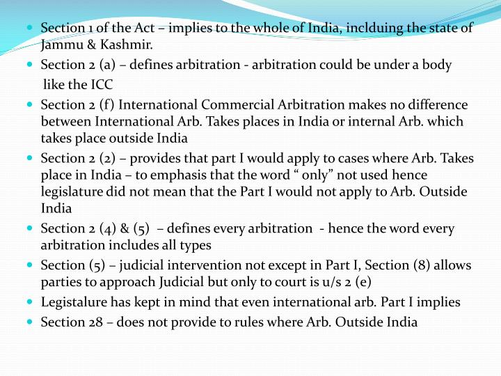 Section 1 of the Act – implies to the whole of India, inclduing the state of Jammu & Kashmir.