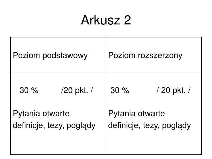 Arkusz 2