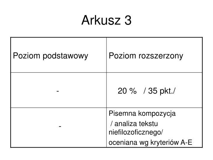 Arkusz 3