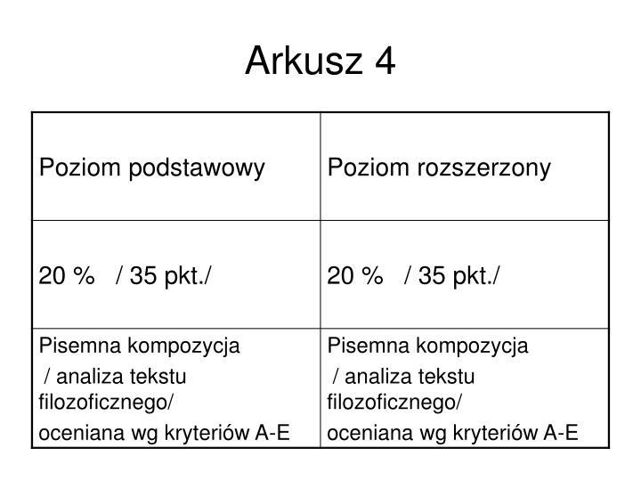 Arkusz 4