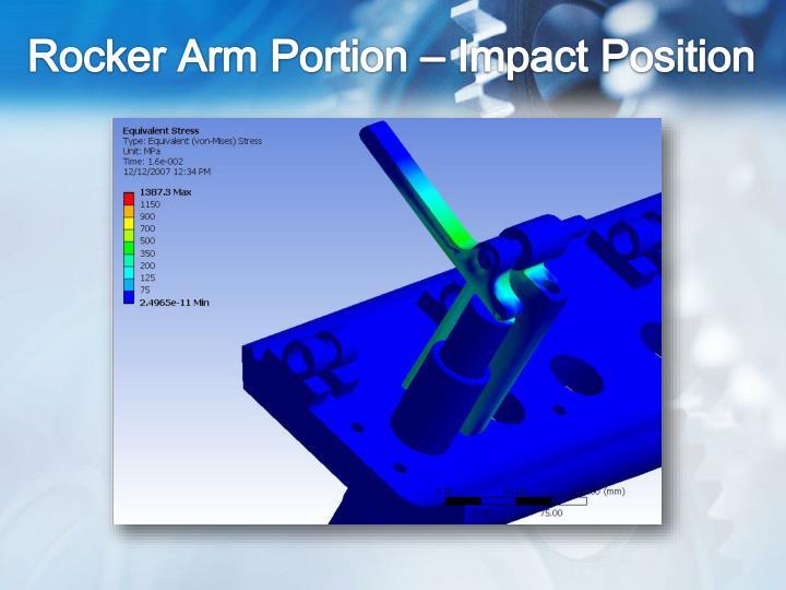 Rocker Arm Portion – Impact Position