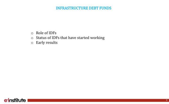 INFRASTRUCTURE DEBT FUNDS