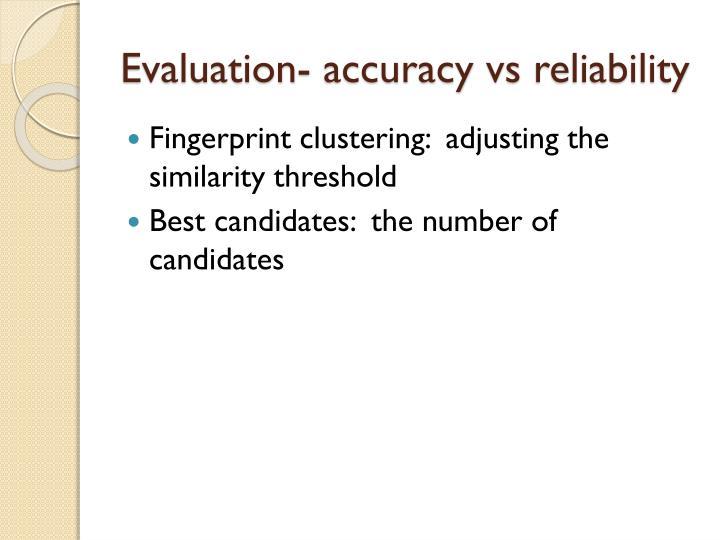 Evaluation- accuracy