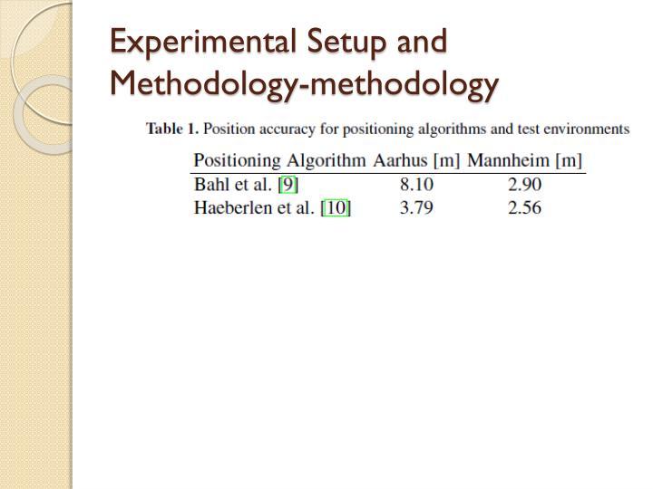 Experimental Setup and