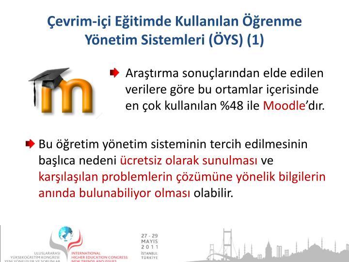 Çevrim-içi Eğitimde Kullanılan Öğrenme Yönetim Sistemleri (ÖYS) (1)