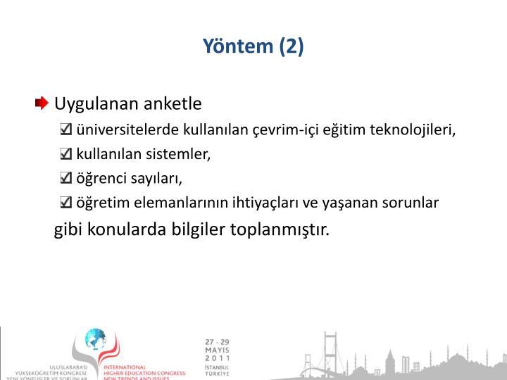 Yöntem (2)