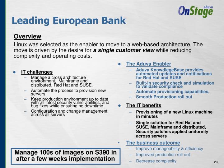 Leading European Bank