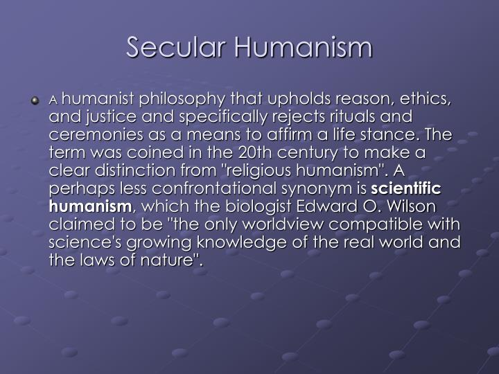 secular humanism Secular humanism is humanism that is atheistic in nature it is a philosophy which  holds that human beings are the most important figures, and that social.
