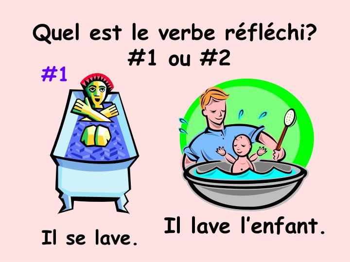 Quel est le verbe réfléchi?