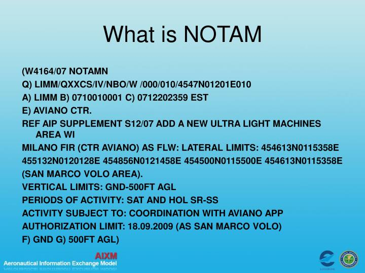 What is NOTAM