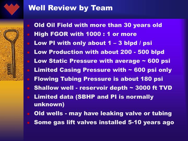 Well Review by Team