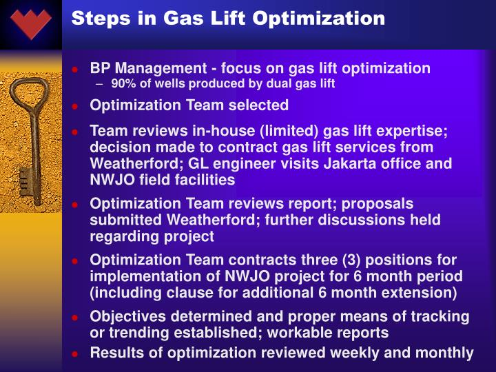 Steps in Gas Lift Optimization