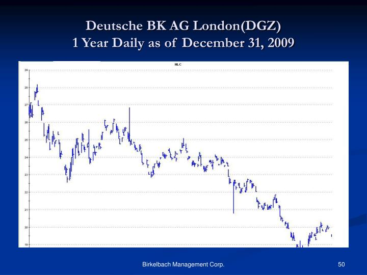 Deutsche BK AG London(DGZ)