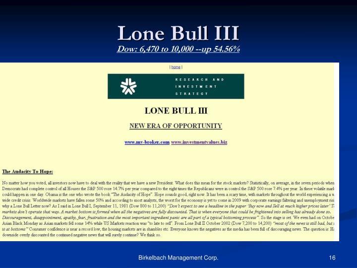 Lone Bull III