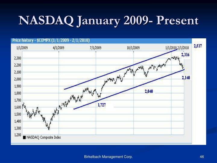 NASDAQ January 2009- Present