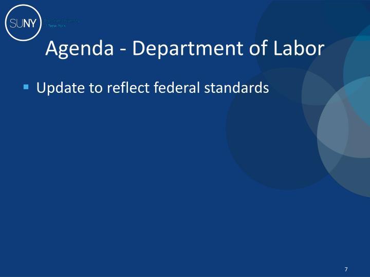 Agenda - Department of Labor