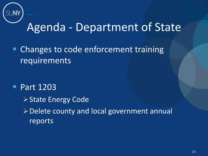 Agenda - Department of State