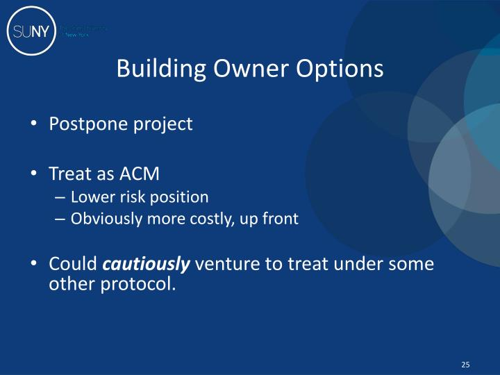 Building Owner Options