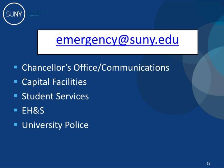 emergency@suny.edu