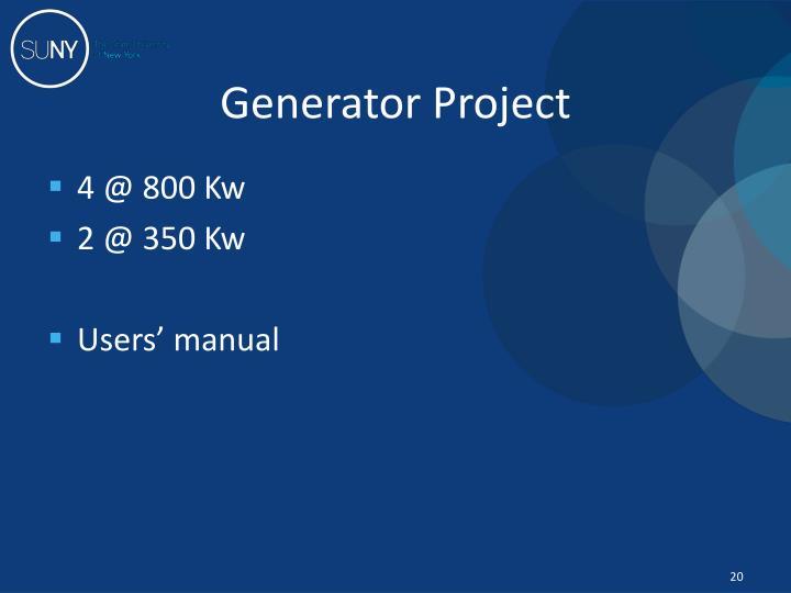 Generator Project