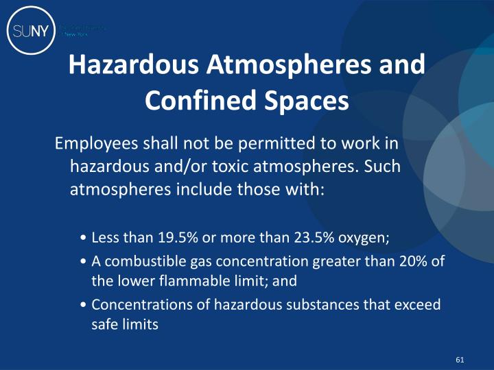 Hazardous Atmospheres and Confined Spaces