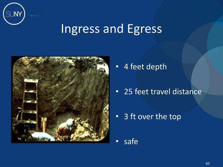 Ingress and Egress