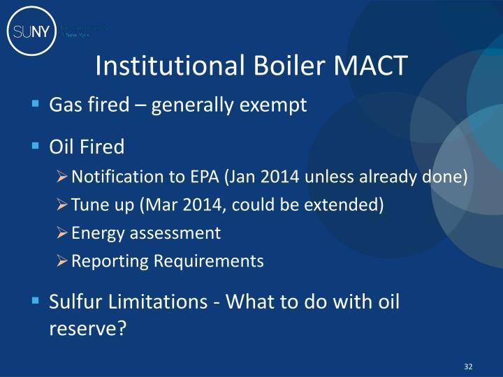 Institutional Boiler