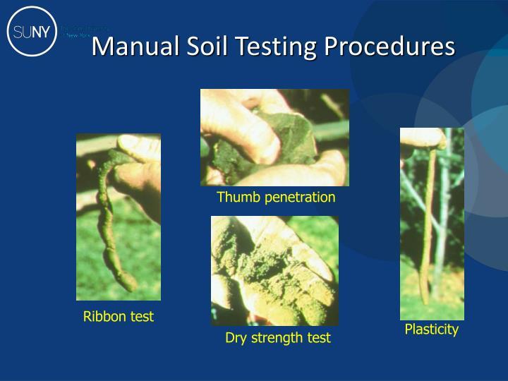 Manual Soil Testing Procedures