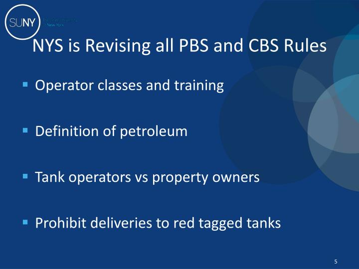 NYS is Revising all PBS and CBS Rules