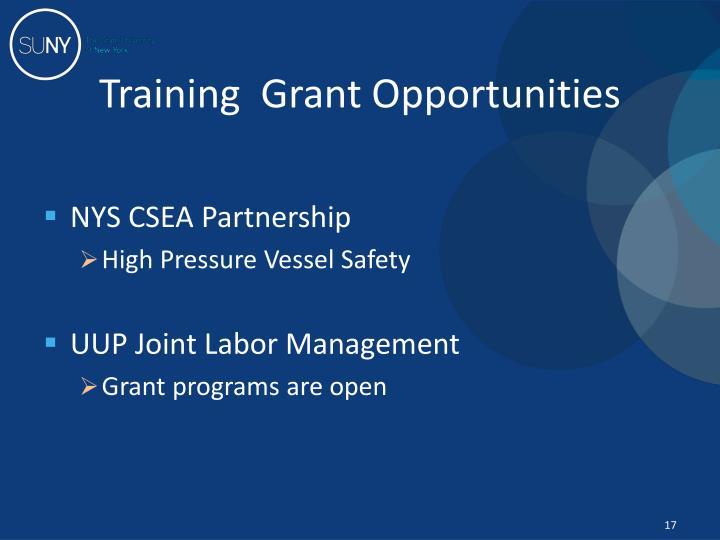Training  Grant Opportunities