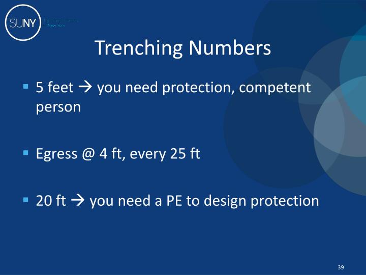 Trenching Numbers