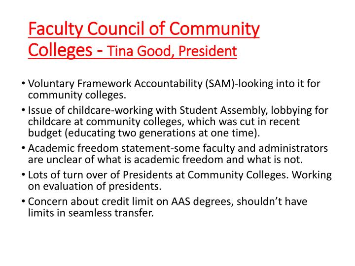 Faculty Council of Community Colleges -