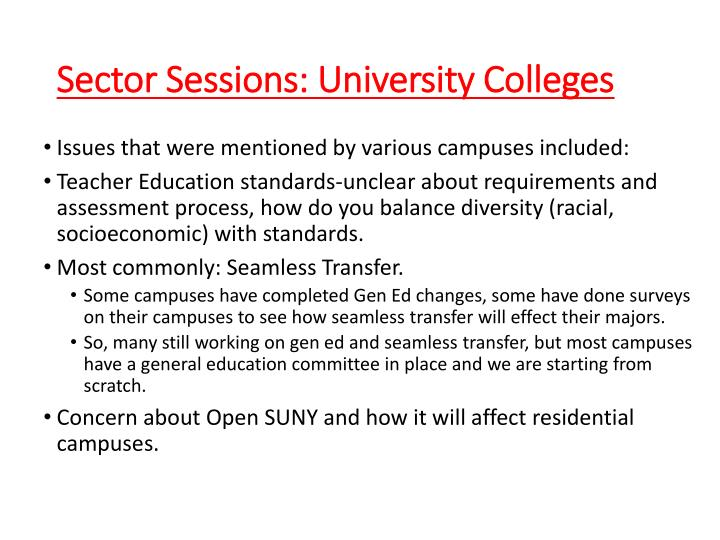 Sector Sessions: University Colleges