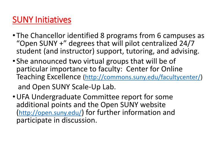 SUNY Initiatives