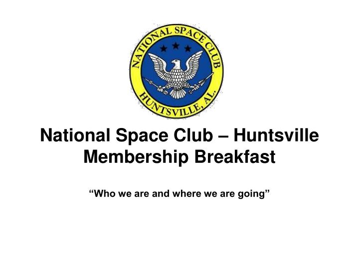 National Space Club – Huntsville