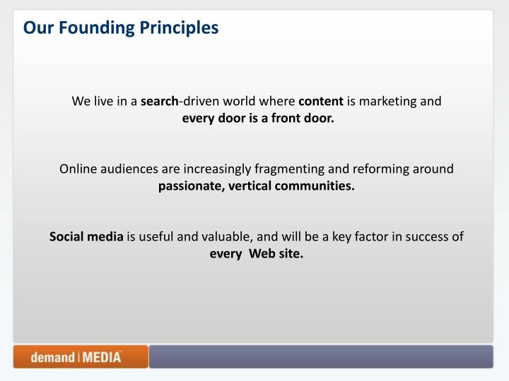 Our Founding Principles