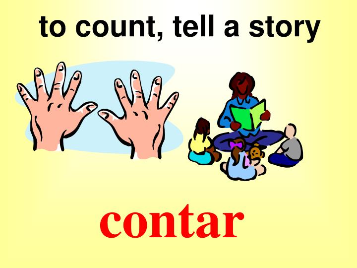 to count, tell a story
