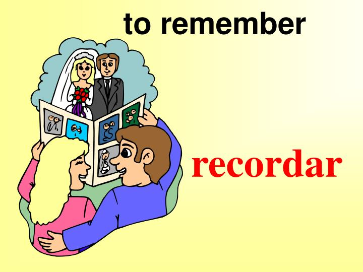 to remember