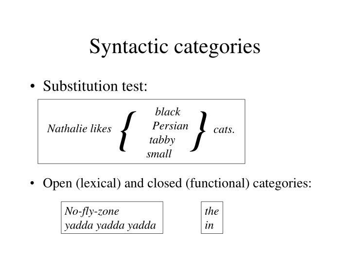 Syntactic categories
