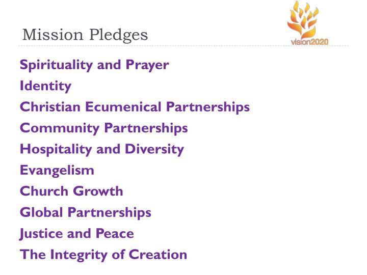 Mission Pledges