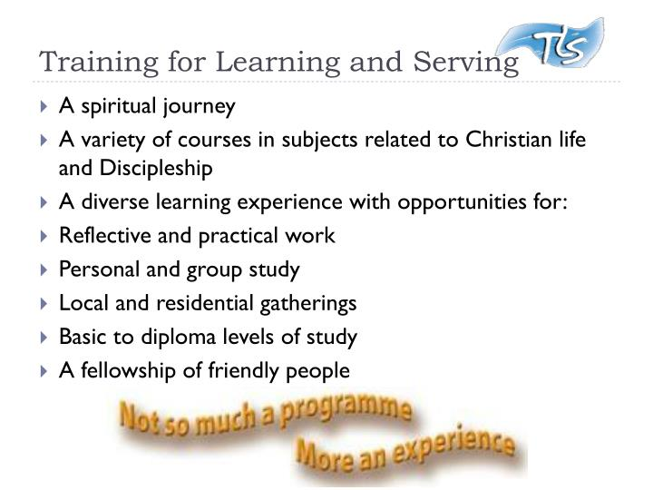 Training for Learning and Serving