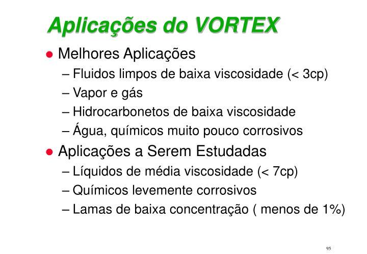 Aplicações do VORTEX